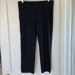 ic by CONNIE K Black Pull on Ankle Pants Size 10